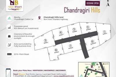 BOOKINGS OPEN for plots from 4 aana and above at Chandragiri (just nearby Chandragiri Cable Car).